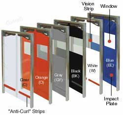 Polar Star Pro Flexible Swing Door for Walk-in Coolers, Freezers