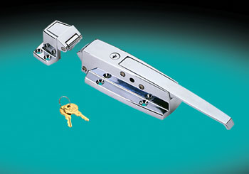 HEAVY DUTY WALK-IN DOOR SAFETY LATCH AND STRIKE, FLUSH