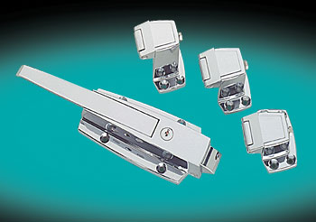 SAFETY LATCHES,  W38 SERIES CHROME FINISH, WALK-IN LATCH & STRIKE