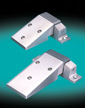 WALK-IN HINGE, SELF-CLOSING, CAM-RISE , SHORT, FLANGE ASSEMBLY, FLUSH, OFFSET