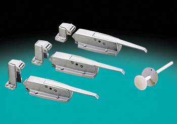 WALK-IN SAFETY LATCHES , W99 SERIES, TYPE 316, ALL STAINLESS STEEL, HEAVY-DUTY