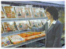 Reach Through Thermal Curtain for Open Display Coolers and Freezers
