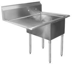Sink, One Compartment, One Drainboard