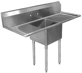 Sink, One Compartment - Two Drainboards