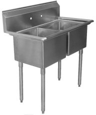Two Compartment Sinks (No Drainboards)
