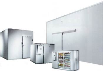 Walk-in Cooler. Indoor, with Refrigeration System WxLxH: 8'x8'x7' 7