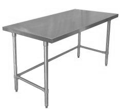 Work Tables - Flat Top / Open Base