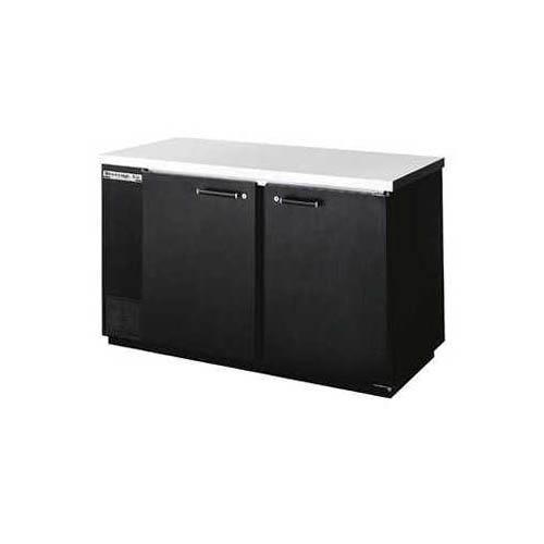 """Back Bar Cooler, 2 Door, 59"""" Wide, Black, Galvanized Top (CLON)"""