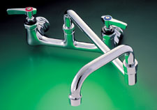 WALL MOUNT FAUCET WITH DOUBLE JOINTED SPOUT