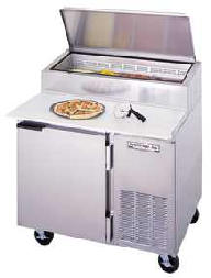 1 Door Refrigerated Pizza Prep Table DP46