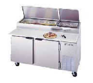 2 Door Refrigerated Pizza Prep Table DP67