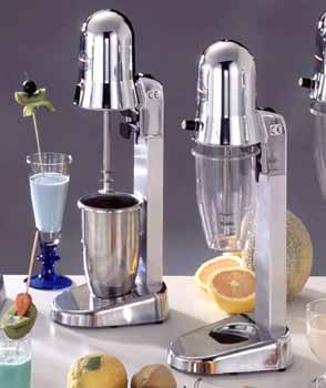 Drink Mixer, Milkshakers, Sirio, 1/8 gls. lexan cup; electrical 110/60 -1/10 Hp, adjustable speed (Sirio 1 VV), 4000 to 12000 rpm